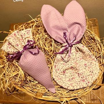 Kit embalagens de Páscoa - cenoura e coelho