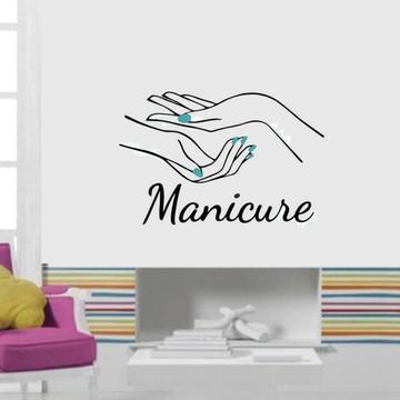 Adesivo de parede para salão de beleza - Manicure