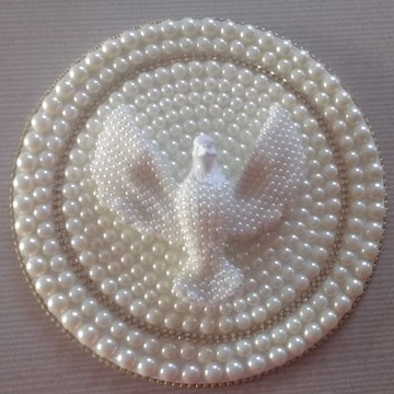 Mandala Divino Espírito Santo 25CM com pérolas