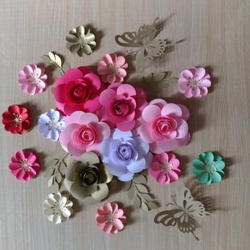 12 Flores De Papel 10cm 5 CM DecoraçaO festa Casamento