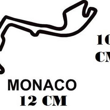 Adesivo Pistas Monaco Formula 1 F1 Corrida Frete Grátis