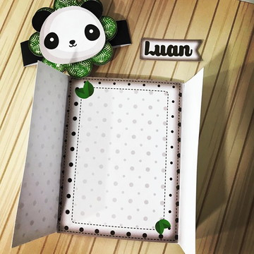 Convite Tema Panda Menino