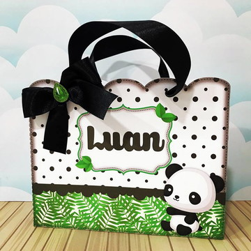 Sacolinha Tema Panda Menino