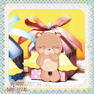 Caixa Urso Anjo (Para meninas)