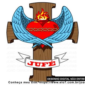 Desenho digital cruz religioso