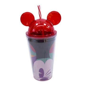 Copo Orelhas Mickey Piscando 450ml 90 Anos - Disney