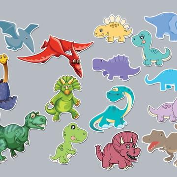 PRONTA ENTREGA e Frete Grátis - 50 Adesivos Dinossauros