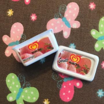 Miniatura Pote de Sorvete Kibon Morango - MN042