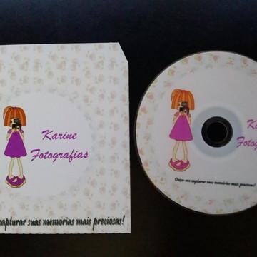 CD Personalizado com envelope personal.