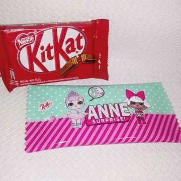 Rótulo para Chocolate KitKat LOL