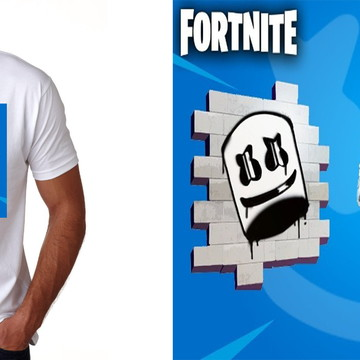 camiseta camisa infantil ou adulto fortnite dj Marshmello