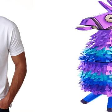 camiseta adulto ou infantil Lhama joguinho Fortnite
