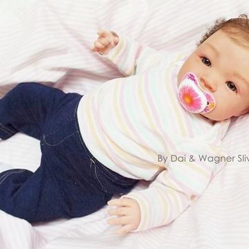 Bebê Reborn Menina Parece Um Bebê De Verdade Com Enxoval