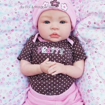 Bebê Reborn Menina Detalhes Reais Princesinha Com Enxoval