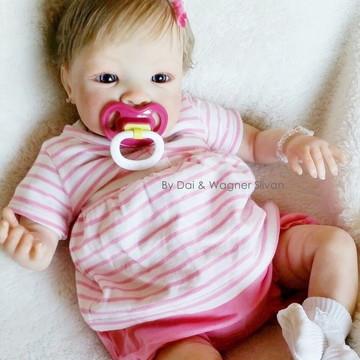 Boneca Bebê Reborn Menina Detalhes Reais Fofa Com Enxoval
