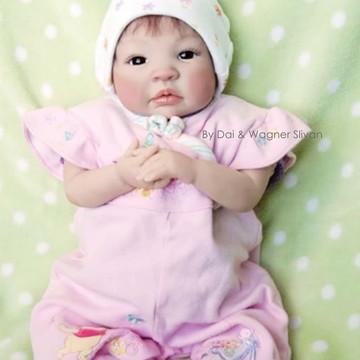 Bebê Reborn Menina Detalhes Reais Lindíssima Com Enxoval