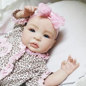 Bebê Reborn Menina Detalhes Reais Com Enxoval E Chupeta