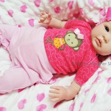 Bebê Reborn Menina Detalhes Reais Princesa Com Lindo Enxoval