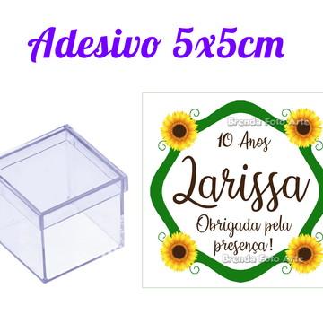 Rótulo Adesivo para Caixinha 5cm Girassol
