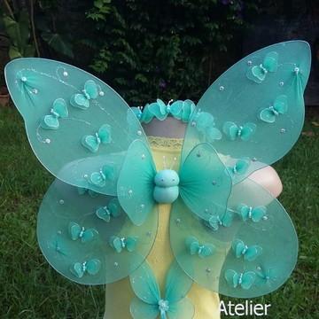 Kit asa de fada de borboletas