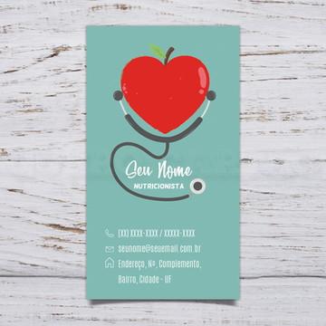Cartão De Visita Nutricionista C/1000 #NT1