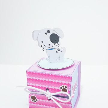 Caixa Envelope - Tema Cachorrinho Menina