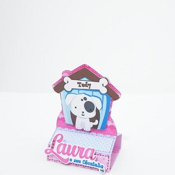 Caixa Bis - Tema Cachorrinho Menina
