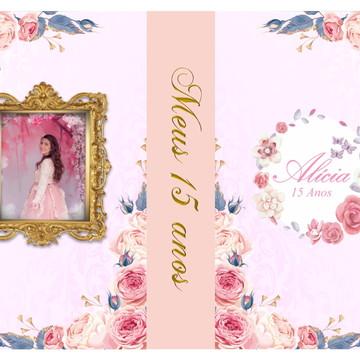 convite de debutante floral jardim encantado romantico
