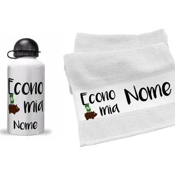 garrafinha e toalhinha economia