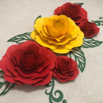 Rosas de papel - Flores de papel