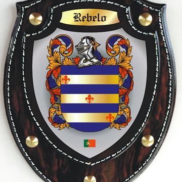 Brasão Modelo Escudo - REBELO / REBELLO (Portugal)