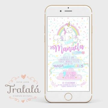 Convite digital - Unicórnio 1