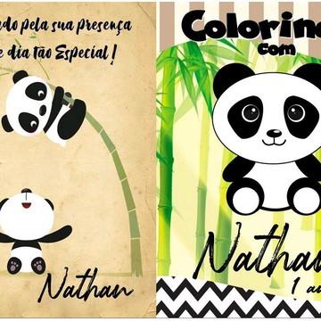 Livro de colorir Panda