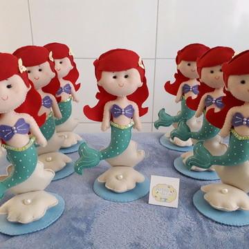 Centro de mesa Pequena Sereia Ariel de Feltro