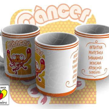 Caneca de Cerâmica - Signo Câncer