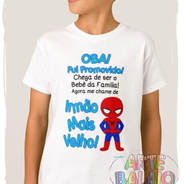 Homem Aranha Camiseta Irmão Mais Velho