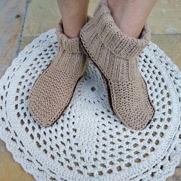 Sapato de tricô modelo meia