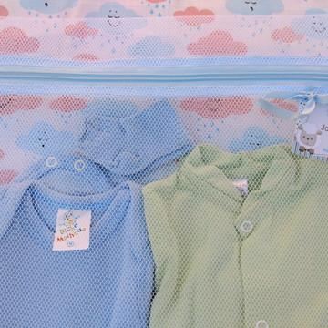 Organizador Maternidade C/ Zíper Azul **Promoção** + TAG