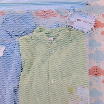 6 Saquinhos Maternidade C/ Zíper Azul **Promoção** + TAG