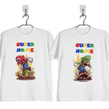 Camiseta Mario e Luigi Aniversario