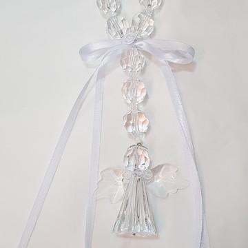Dezena Cristal Anjo da Guarda Transparente