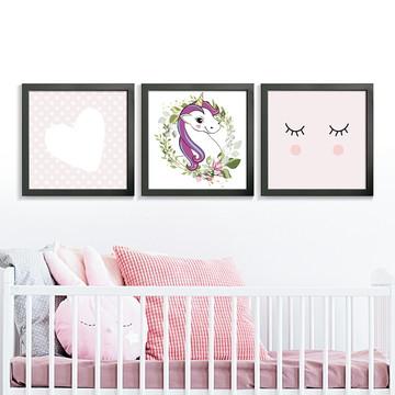 Quadros Decorativos Infantil Coração Médio Comp1042