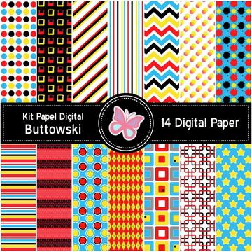 Kit Papel Digital Buttowski