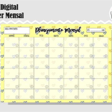PLANNER MENSAL 41 - ARTE DIGITAL
