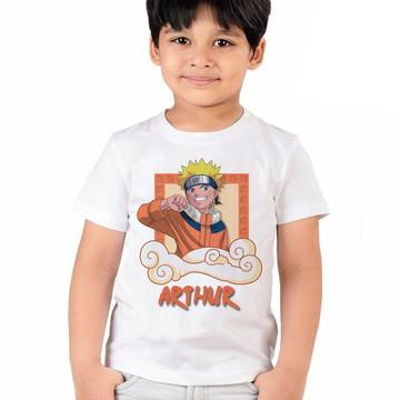 Camiseta Naruto Aniversario Infantil