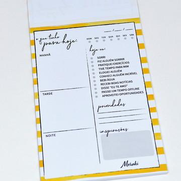 Planner Diário Amarelo