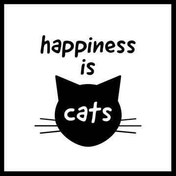 Quadro gatinho feliz