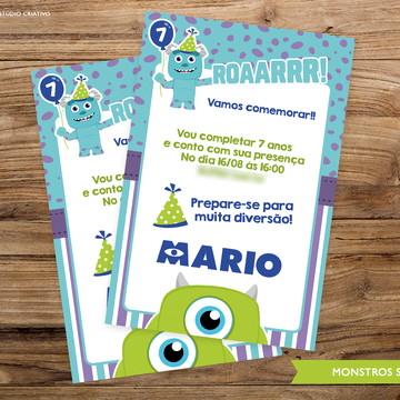Convite Digital -Monstros S.A