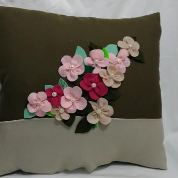 Capa de Almofada Flores