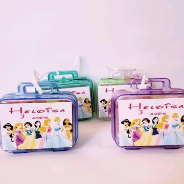 kit maletinha com massinha de modelar princesas